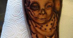 baby skully portret