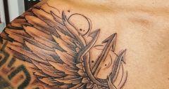 drietand met vleugel