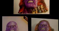 Thanos color pencil